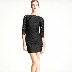 Diane Von Furstenberg Black Sarita Silk Lace Dress